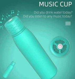 500ML Tumbler cola bottle Bluetooth Speaker Double Wall Insulated mug 4 COLORS music cup LJJK2507XZ3M AZMA