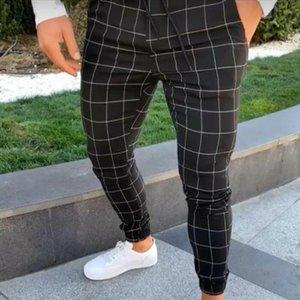 Moda homens vestuário alta cintura mens calças longas calças slim pantsuit fit trekout corredores verão casual verão