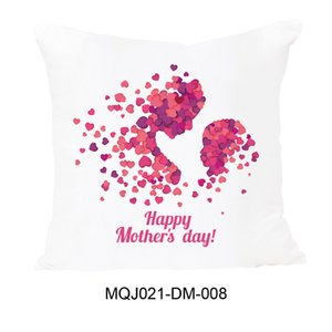 Happy Mother Day Letter Pillow Case Pink Flower Printed Cushion Cover For Home Sofa Decorative Pillowcases Cover GGA4729