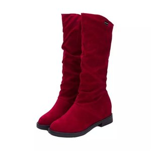 boot 2021, sexiest young man on knee suede women's fashion winter thigh high shoes woman snow boots ZESO