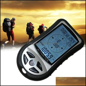 Outdoor Gadgets And Sports & Outdoorsmtifunction 8 In 1 Electronic Handheld Compass Altimeter Barometer Thermometer Weather Forecast Time Ca