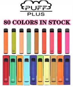 Bar Puff plus 80 Couleurs jetables de couleur Vape Pen Dispositif 450mAh Batterie 800 Puffs 3.2ml Pod Prérublée XXL Double Stick Bang Air Lux