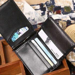 Wallets year lotus leaf dollar clip fashion gentleman wallet card bag PU leather zero