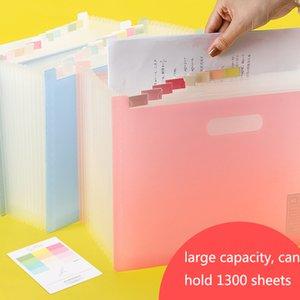 Plastic Document Pocket Expanding File Folder A4 Paper Bag Document Folders Fireproof Bag Organizer Documents Paper Organizer