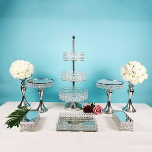 Piece -13PCS Cake Stand Set Silver Metal Bupcake Holder Dessert Display Plate Platter da servire Altri Bakeware