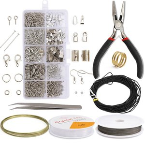 Alloy Accessories Jewelry Findings Set Jewelry Making Tools Copper Wire Open Jump Rings Earring Hook Jewelry Making Supplies Kits 766 Q2