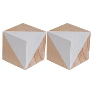 Novelty Items 2PCS Nordic Style Chic Wooden Block Po Props Creative Pography Accessories For Home Party Babies (White)