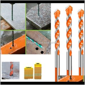 Power Tools Home & Garden Drop Delivery 2021 5 6Pcs Multifunction Industrial Drill Bits Ceramic Wall Glass Punching Hole Set Uxa0L