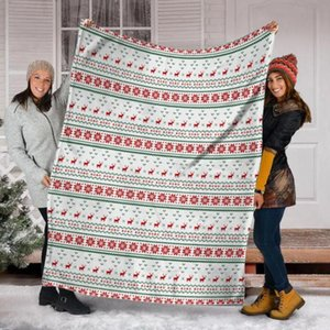 Blankets Red Christmas Knit Snowflake Blanket Velvet All Season Cold Artistic Multifunction Soft Throw For Bed Car Bedspreads