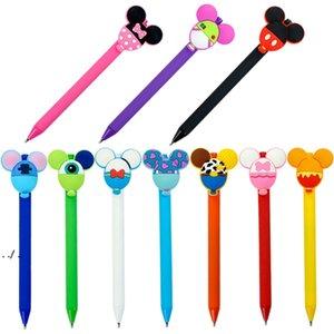 Kawaii Cartoon Ballpoint Pen Student Signature Creative Stationery Office School Supplies Black Gel ink Pens 9 Style DWA9254
