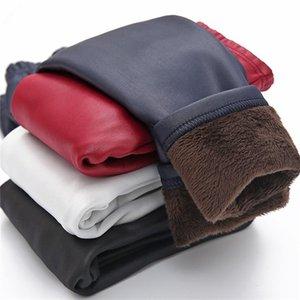 Invierno niñas leggings cálido leggins niña piel sintética PU pantalones niños niños getry pantalones fille hiver leguin infantil pantalón 917 y2