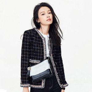 JSXDHK Runway Designer Women Tweed Jacket Autumn Winter Plaid Black Tassel Weave Coat Vintage Single breasted Outerwear S-3XL
