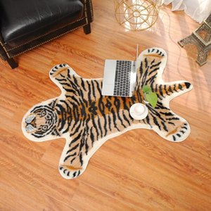 Carpets Tiger Printed Rug Cow Leopard Cowhide Faux Skin Leather NonSlip Antiskid Mat 94x100CM Animal Print Carpet