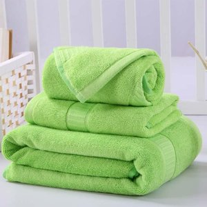 Towel 3 Pcs Cotton Sets Geometric Embroidered Hand Towel+Face +Bath Towels Soft Luxury Gift Super Quality Home Textile