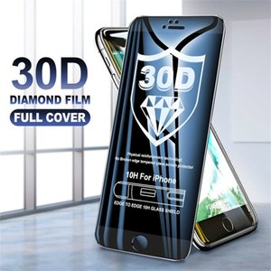 30D Curved edge Screen Protectors Full Cover Tempered Protective Glass film for iPhone 7 8 6 Plus x xr xs 11 12 13 mini pro max