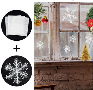 style souvenir White snowflakes hanging snow Christmas tree decoration family wedding party 6 pieces with window stickers