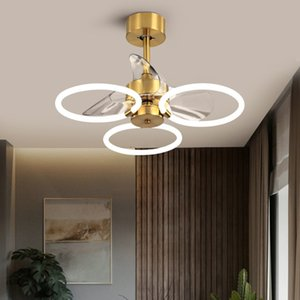 Light  modern minimalist invisible ceiling fan lamps with electric fan lamp dining room living room bedroom fans chandeliers