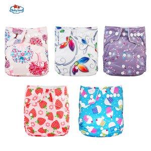 Fralda Ecologica Babyland Baby Nappy 5PCS / Lot Douches lavables Couches de poche de bonne qualité pour 0-2 ans 3-15kg bébé écologique 210418