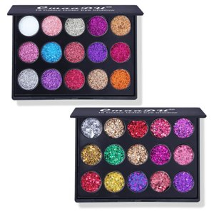 2021 Ins style 15 colors diamond Shiny Eye Shadow colour glitter powder high gloss eyeshadow palette makeup set bling CmaaDu