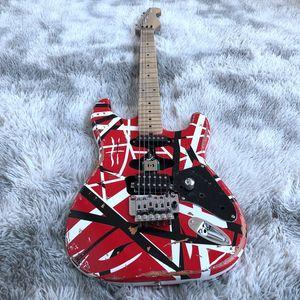 Eddie van Halen Frankenstrat Chitarra elettrica, Frankie rossa Guitar Frankenstein No logo Mogano Body Wood