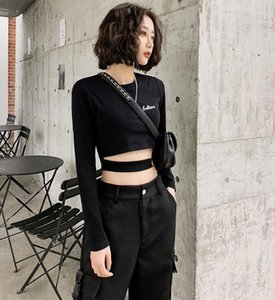 Sexy Long Sleeves T Shirt for Women Elasticity Korean Style Clothes Slim Tshirt Female Skinny Women's Tops Spring