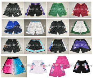 Top Quality ! 2021 Team Basketball Shorts PINK PANTHER MIAMI Men's Shorts pantaloncini da basket Sport Shorts College Pants All Star White Black 100% stitched