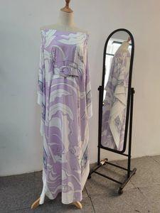 인쇄 된 박쥐 소매가있는 유럽 및 미국 고품질 느슨한 드레스
