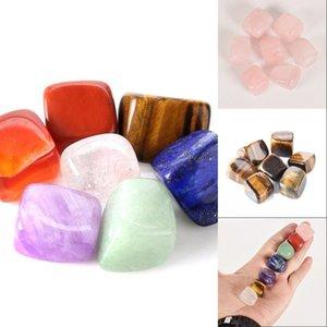 Natürlicher Kristall Chakra Stein 7 stücke Set Natürliche Steine Palm Reiki Heilkristalle Edelsteine Dekoration Zubehör 527 V2
