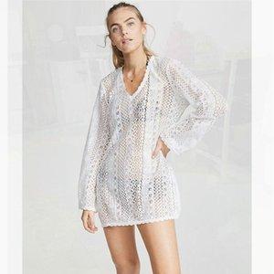 Revues de plage pour femmes Tunique Plus Taille Wear Coverup Coverup Costume Couvre-maillot de bain UPS Robe d'été