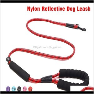 Collars Durable Outdoor Pet Harness Traction Nylon Reflective Running Leashes Rope Adjustable Dog Leash With Padded Handle 32Pnd Blevt