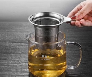 High Quality 304 Stainless Steel Tea Infuser Mesh Tools Strainer with Large Capacity & Perfect Size
