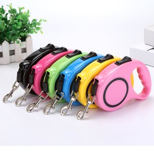 Pet Supplies retractable leashes Automatic dog traction device Portable dogs leash 3m 5m 7 colors GWE9801