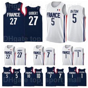 ape 2021 Tokyo Olympics France Basketball Jersey Rudy Gobert 27 Nicolas Batum 5 7 Guerschon Yabusele 1 Frank Ntilikina 10 Evan Fournier Vincent