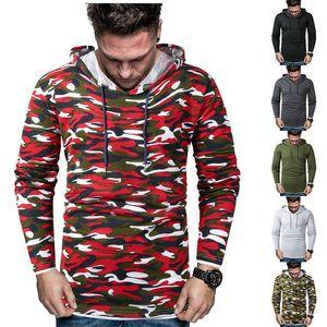Designer Männer Gefälschte zweiteilige Tarnung Camouflage mit Kapuze Mann Sweatshirts Patchwork Langarm Frühling Herbst Homme Hoodies