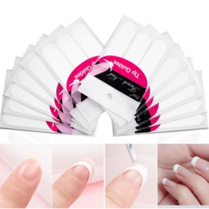 1PCS Form Guide French Nail Stickers Tips Design Decal Smile Line Half Moon Shape Sticker Manicure Art Fringe DIY Salon New Stencil Wholesale Professional