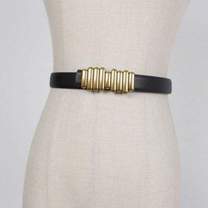belts Women's jeans fashion versatile black thin belt decorative leather style with tweed coat suit