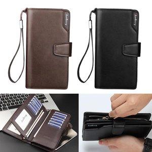 Card Holders Classic Folding Leather Wallet Zipper Purse Money Clip Phone Holder Case