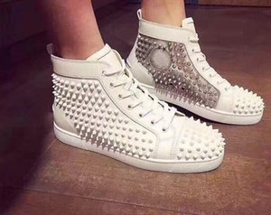 Perfect Nice Mix Studs High Top Shoes Pik Spikes Red Bottom Sneakers Men Women Skateboard Walking Brands No. Limit Outdoor White Trainers