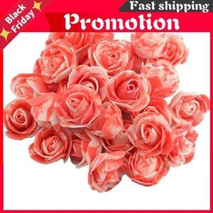 Dekoratif Çiçekler Çelenkler 500 adet 3.5 cm Renkli PE Köpük Yapay Gül Çiçek Başkanı DIY Düğün Ev Dekorasyon için Scrapbooking Scrapbooking El Yapımı