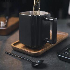 European Style 400ML Ceramic Coffee Cup Retro American Set Mug Office Saucer Living Room Table Decoration Mugs