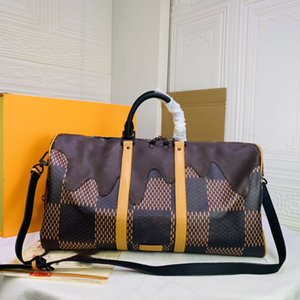 Fashion top quality men's travel high volume bag designer brand men and women's outdoor leather