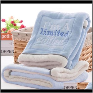 Quilts High Quality Thermal Fleece Cobertor Infantil Swaddle Nap Receiving Stroller Wrap Born Baby Bedding Bebe Blanket Tf89W Giysf