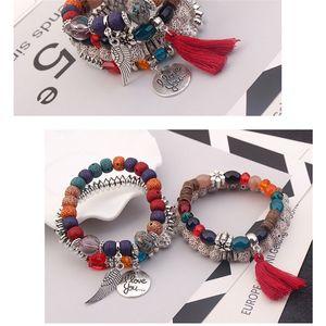 Crystal Bead Bracelets Vintage Bracelet Female Jewelry Tassel Natural Stone Charms Wristband Wholesale Jewelry Gift for Women Gi 79 K2