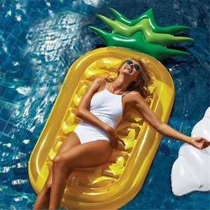 Inflatable Floats & Tubes Cute Pineapple Air Mattresses Water Row Cushion Bed 71