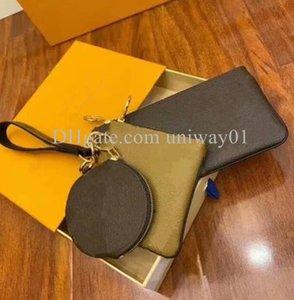 Woman Handbag Bag purse women original box high quality letters clutch card holder three in one set