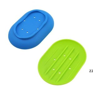 Soap Dishes Silicone Soaps Holder Plate Flexible Anti-skidding Boutique Soap Rack Soap Holders Hollow Tray Bathroom Accessories HWE8831