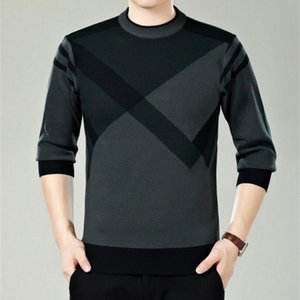 Men Sweater Winter Round Neck Knitted Sweaters Male Casual Autumn Cashmere Pullovers Mens Thick Warm Jumper Plus Size