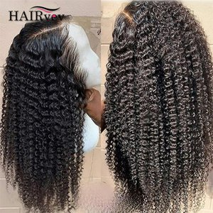 Lace Wigs Kinky Curly 4x4 Closure Human Hair Natural Color 180% Density Brazilian HD Wig Baby