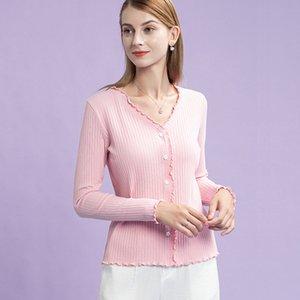 Don't Change French Ear Edge Purple Long Sleeve T-shirt Female 2021 New Design Sense Net Red Top A05