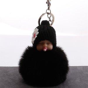 Nippel Puppe Schlüssel Schnalle Hairball Autos Tasche Schlafen Baby Anhänger Zubehör Schlüssel Ringe Mode Niedlichen Schmuck Feste Farbe 2 5Qs M2